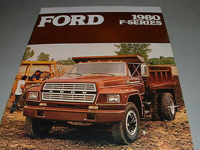 1980 FORD TRUCKS Sales Brochure, Medium Duty Big Trucks, F-SERIES