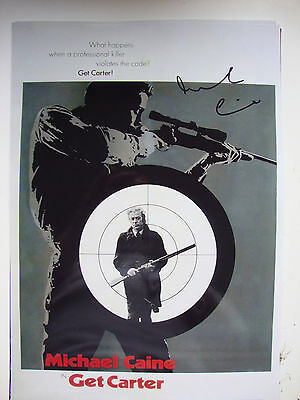 GET CARTER personally signed stunning 10x15 - MICHAEL CAINE