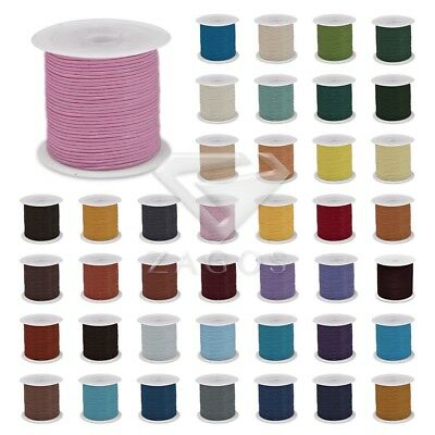 1 Roll 10m Real Round Leather Cord Thong Jewelry Bracelet Making 1/1.5/2/3mm