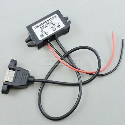 DC/DC Converter 12V Step down to 5V 3A 15W USB Power Supply Module Adapter