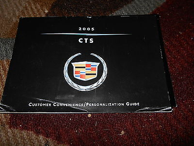 2005 Cadillac Cts Customer Convenience Personalization Guide Owners Manual Supp