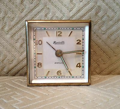 Vintage Forestville Jewelled West Germany Travel Clock No Case
