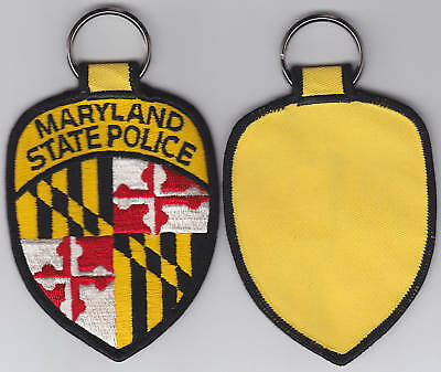 Maryland MD MDSP State Police cloth patch KEY RING