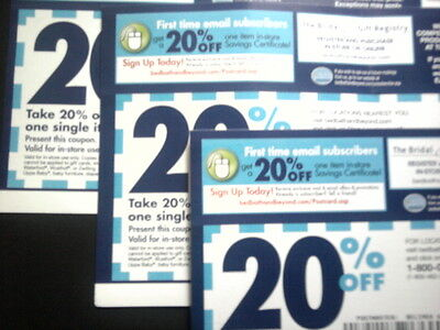 Bed Bath & Beyond 20% OFF ENTIRE PURCHASE Coupon - 8/26/2013