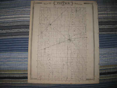 Mint Antique 1876 Tipton County Indiana Map Frankfort Colfax Windfall Detailed N