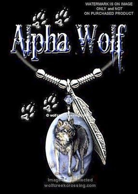 ALPHA WOLF NECKLACE for MALE or FEMALE - ART WOLVES JEWELRY - FREE SHIP  #L24*