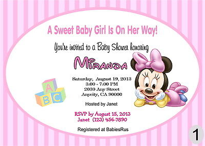 minnie mouse invitations for a baby shower minnie mouse baby shower