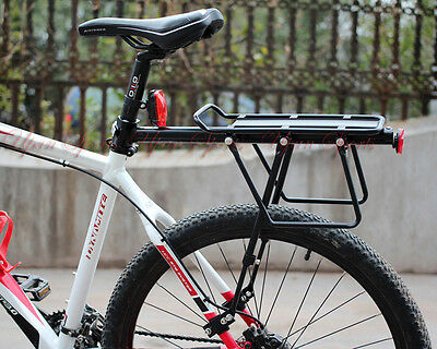 60kg! V Disc Brake Bicycle Bike Alloy Rear Rack Carrier Luggage Protect Pannier