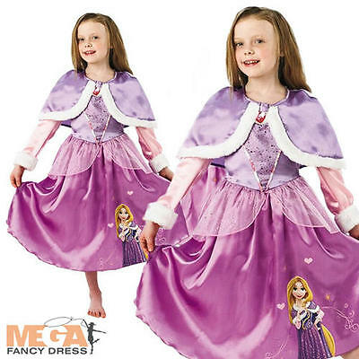 Rapunzel Princess Wonderland Girls Fairytale Fancy Dress Disney Childs Costume