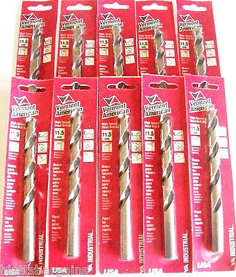 10 Vermont American By Bosch 11.5Mm High Speed Steel Metric Drill Bits 0501115