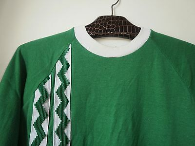 True VINTAGE VEB Kristall HERREN SPIELERHEMD Shirt MADE IN GDR size 8 green 80s