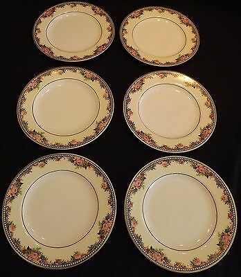 J&G Meakin England Marion 6 Bread  Plates