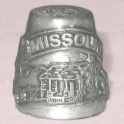 Collectible pewter thimble, Missouri B10