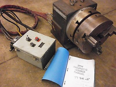 "SMW 12"" Pneumatic Indexer PT315 with Control Box 120V Spare Circuit Board O-Ring"