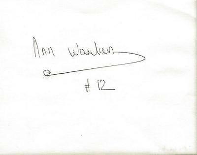 Ann Wauters Signed Index Card Seattle Storm