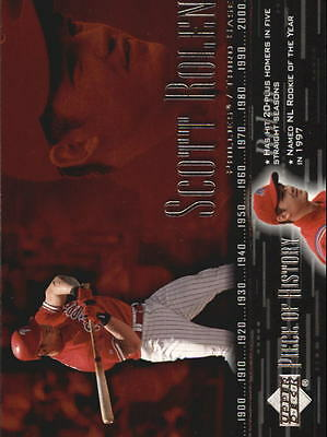 2002 (BB) UD Piece of History #83 Scott Rolen - NM-MT