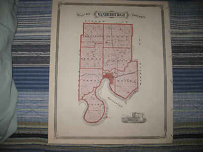 Albany Indiana Map.1876 Indiana Map Evansville Floyd County New Albany 49 99