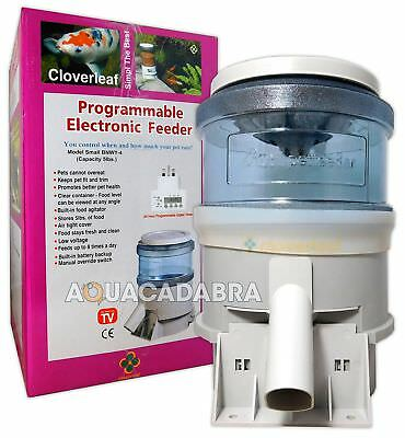 Cloverleaf Auto Feeder 5Lb Electronic Automatic Koi Fish Food Garden Pond 5 Lb