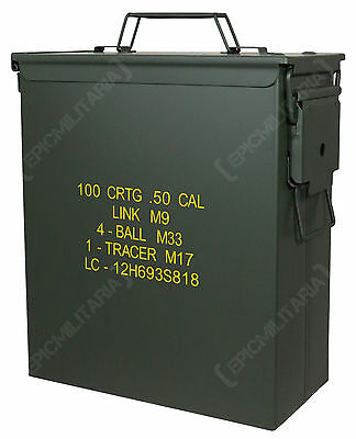 US M9 Large .50 Cal Ammo Can - Army Military Repro Ammunition Tin Box New