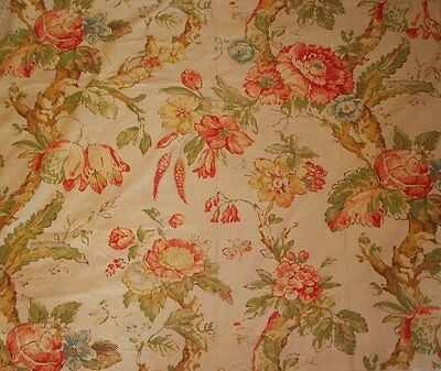 Pottery Barn Katherine Floral Print Fabric Shower Curtain