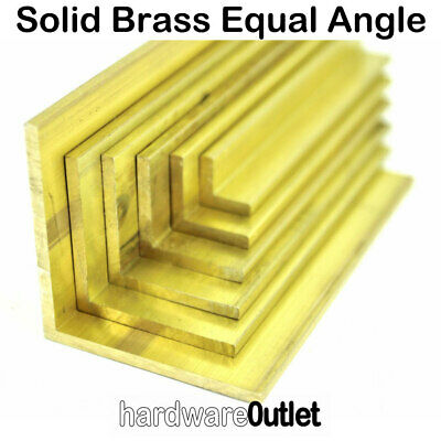 Solid Brass Equal ANGLE - L Section CZ130 -  6 Sizes and 5 lengths available