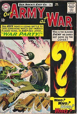 Our Army At War Comic Book #151, DC Comics 1st Enemy Ace 1965 VERY GOOD