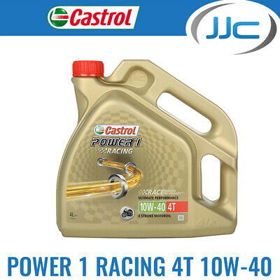 Castrol Power 1 Racing 4T Bike 4 Stroke Fully-Synthetic Engine Oil 10W40 - 4L