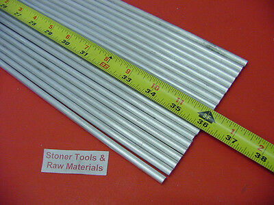 """20 pieces 1/4"""" ALUMINUM 6061 ROUND ROD 36"""" long T6511 Solid .250 Lathe Stock 60'"""