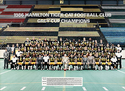 Hamilton Tiger-Cats - 1986 Grey Cup Champions, 8x10 Color Team Photo