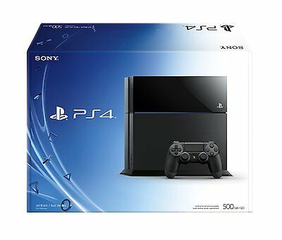 Sony Playstation 4 PS4 500GB Storage Black Video Game Console - New Sealed