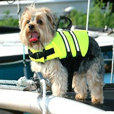 Paws Aboard High vis Yellow doggy life jacket vest  X small 7-15lbs dog K9 XS