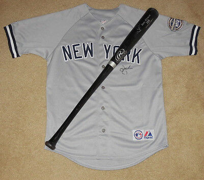 2009 New York Yankees Autographed Bat &  Jersey (World Series Champs!) Lot!