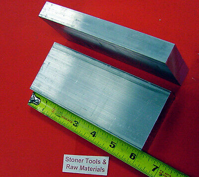 "2 Pieces 1"" X 3-1/2"" ALUMINUM 6061 FLAT BAR 6"" long T6511 Solid Plate Mill Stock"