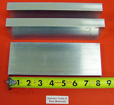 "3 Pieces 1"" X 3-1/2"" ALUMINUM 6061 FLAT BAR 8"" long T6511 Solid Plate Mill Stock"