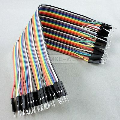 40x 20cm 2.54mm Male to Male Dupont jumper wire cable for Arduino Breadboard