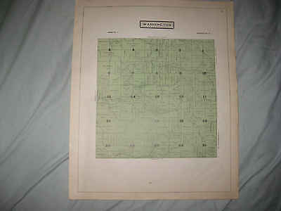 Antique 1914 Washington Township Guernsey County Ohio Map W Land Owners Rare Nr