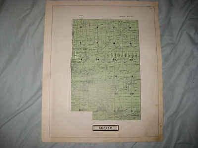 Antique 1914 Center Township Kingston Guernsey County Ohio Map W Land Owners Nr