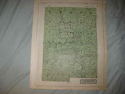 Antique 1914 Cambridge City & Township Guernsey County Ohio Map W Land Owners Nr