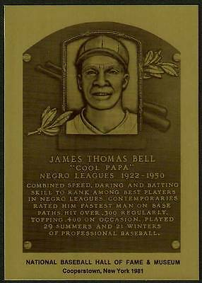"""JAMES """"COOL PAPA"""" BELL Negro Leagues HALL OF FAME METALLIC CARD ~1 of 1,000~"""