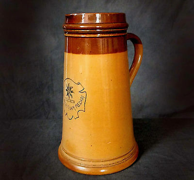 VERY RARE DOULTON LAMBETH ARTWARE EWER by HANNAH BAROLW