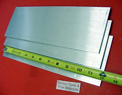 "3 Pieces 1/8"" X 4"" ALUMINUM FLAT BAR 12"" long 6061 T6511 .125"" New Mill Stock"