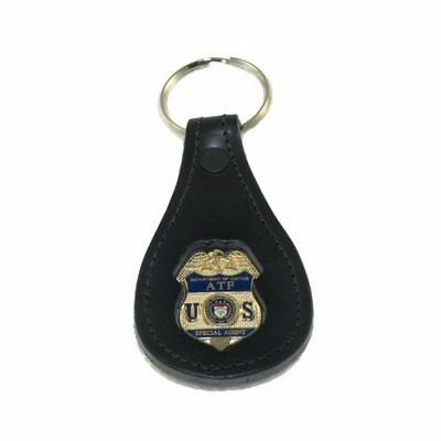ATF & E Federal Special Agent Mini Badge Leather Keyring Keychain Key Holder FOB