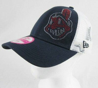 3a32ea15 Women's MLB Major League Baseball Cleveland Indians Chief Wahoo bling Hat  Cap