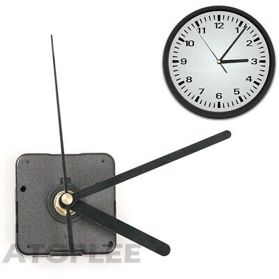 Black Quartz Clock Motor Movement Battery Operated DIY Replacement Part 55x 55mm
