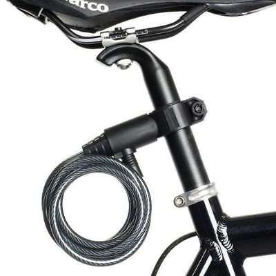 Bicycle Bike Cycling Cable Lock With Key 8x1800mm