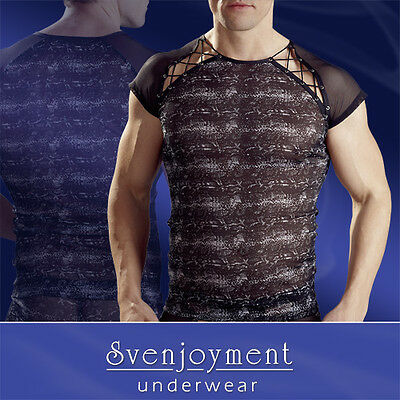 T-Shirt Transparent Impression Reptile Lingerie Homme Sexy Gay Fashion