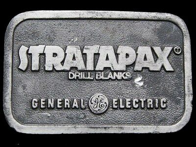IF25165 VINTAGE 1970s **STRATAPAX DRILL BLANKS** GE GENERAL ELECTRIC BUCKLE