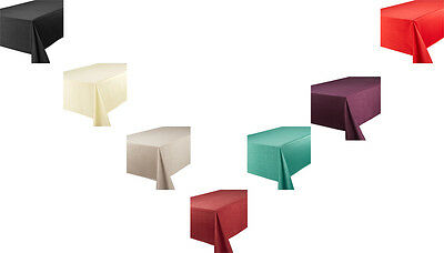 Table Cloth Designer Faux Silk Table Care All Colours Accessories Quality Linen