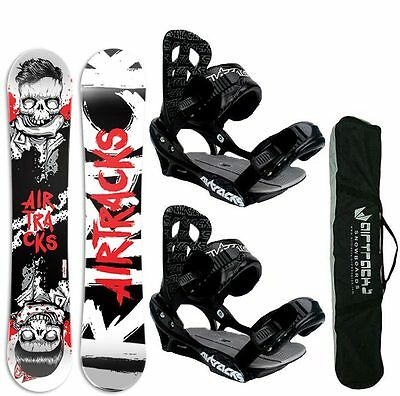SNOWBOARD SET AIRTRACKS TABLA HIPSTER+FIJACIONES+BAG/150 153 159 164cm/ NUEVO!