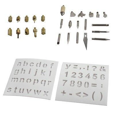 37pc Wood Burning Pen with Extra Tips and Stencils - Deluxe Craft and Hobby Kit